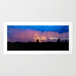 Sunset in Bagan, Myanmar Art Print
