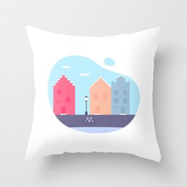 Little Europe Throw Pillow
