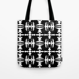 Abstract dance- Black and whit abstract print Tote Bag