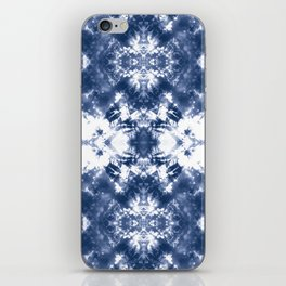 Shibori Tie Dye 4 Indigo Blue iPhone Skin