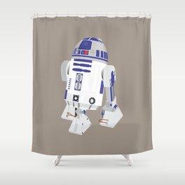 R2-D2 (Vector Art) Shower Curtain