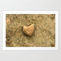 Stony Heart Art Print