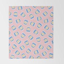 New York Deli Coffee Pattern Throw Blanket