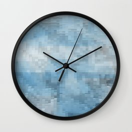 Abstract blue pattern 3 Wall Clock