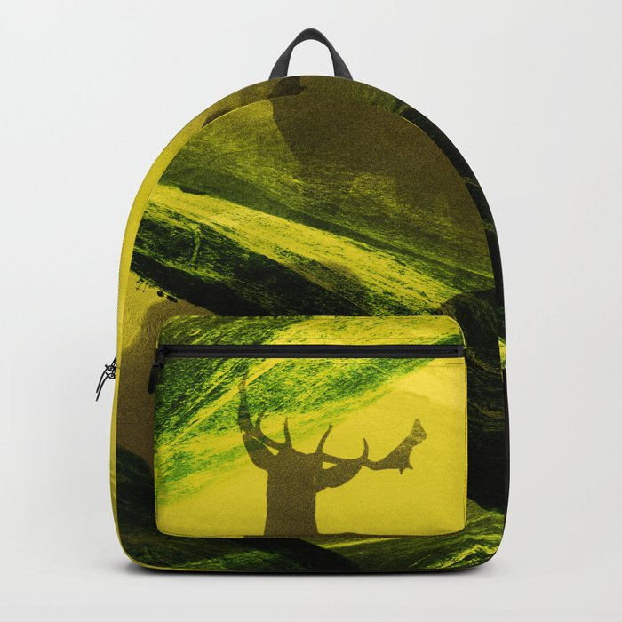Oh Deer Complex Green Backpack