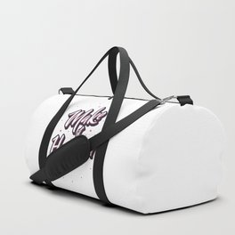 "Hand lettering motivational quote ""Make it happen"" Duffle Bag"