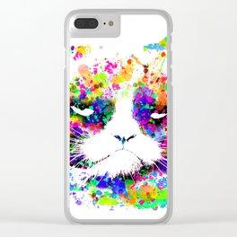 A grumpy pussy cat Clear iPhone Case
