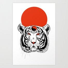 YIN YANG TIGER Art Print