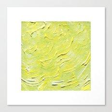 Yellow Green Waves Canvas Print