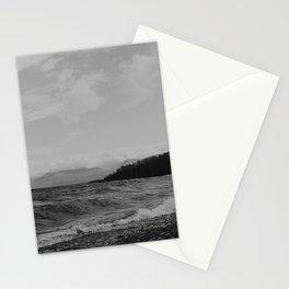 Black Waves in Sweden Stationery Cards