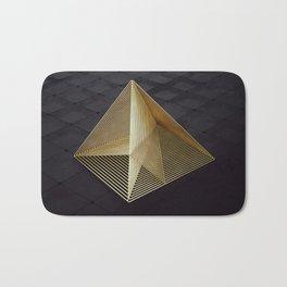 Golden pyramid Bath Mat