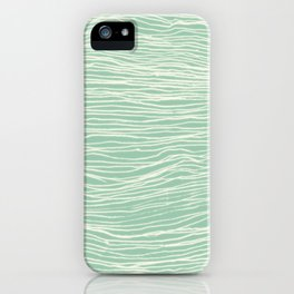 Jade Glow - abstract lines in cream & mint iPhone Case