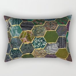 honeycomb mermaid scales Rectangular Pillow