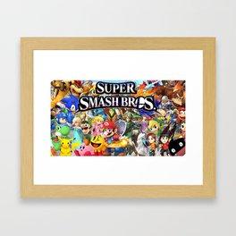 super smash bros Framed Art Print