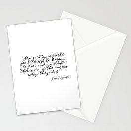 She quietly expected great things Stationery Cards