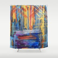 lovers Shower Curtains featuring Lovers by Pluto00Art / Robin Brennan