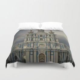 Postcards from Petersburg - Smolny Cathedal Duvet Cover