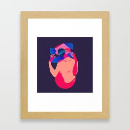 Waves of emotion Framed Art Print