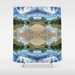 Psychedelic Swim Shower Curtain