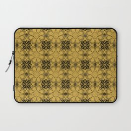 Spicy Mustard Floral Geometric Laptop Sleeve