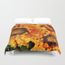 Sunflowers Abstracted Duvet Cover