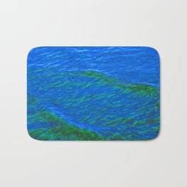 Waves Blue-Green DPG160608h Bath Mat