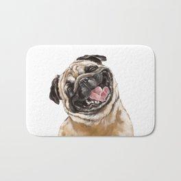 Happy Laughing Pug Bath Mat