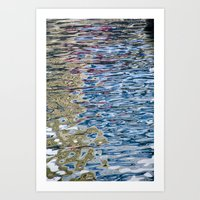 Colors Reflection Art Print