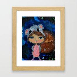 """""""Hickory, dickory, dock"""" - Bedtime Stories Series Framed Art Print"""
