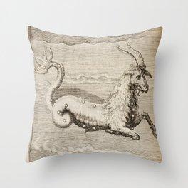 Hugo de Groot's Syntagma Arateorum 1600 - 23 Capricornus Throw Pillow