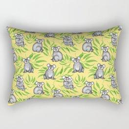 Koala Pattern Charitable Art (Yellow Background) Rectangular Pillow