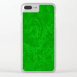 Neon Green Alien DNA Plasma Swirl Clear iPhone Case