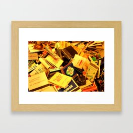Box of Matches Framed Art Print
