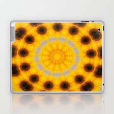 Sunflower and Bee Abstract Laptop & iPad Skin