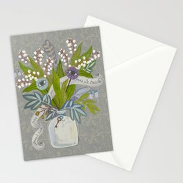 Mystical Flowers Stationery Cards