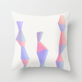Trois Throw Pillow