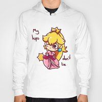 princess peach Hoodies featuring Princess peach by HeliPeach