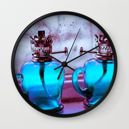 old times new lights Wall Clock
