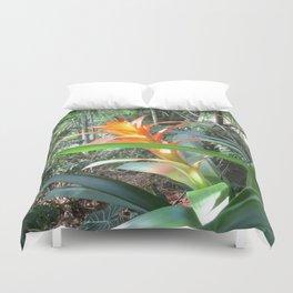 Brilliant Bromeliad Duvet Cover