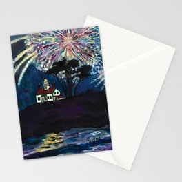 Crescent City Fourth of July ~ Battery Point Lighthouse Stationery Cards