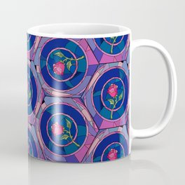 Stained Glass Rose - Beauty & The Beast Inspired Coffee Mug