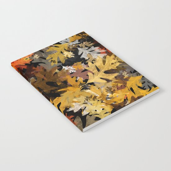Oak Leaf Abstract Notebook