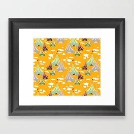 Fair Day Orange Framed Art Print