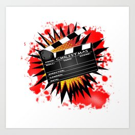 Christmas Clapperboard Art Print