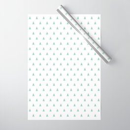 Blue Moth Wrapping Paper