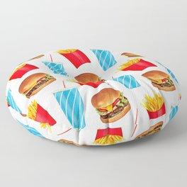 Combo Meal Pattern 2 - White Floor Pillow