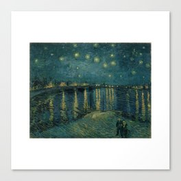 The starry night over the Rhône, 1888, Vincent van Gogh, Musée d'Orsay, Paris. Canvas Print