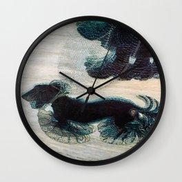Dynamism of a Dog on a Leash, Vintage Minimalist Art Wall Clock