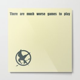 Mockingjay Quote Metal Print