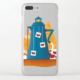 Tea Lighthouse Clear iPhone Case